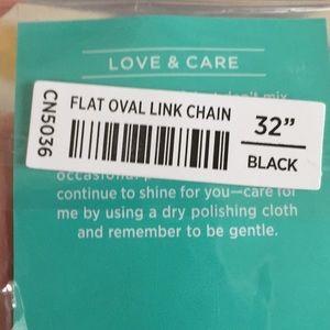 """Origami Owl Jewelry - Origami Owl Black Flat Oval Chain 32"""""""